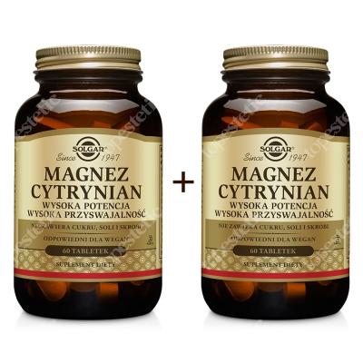 Solgar Magnez Cytrynian x 2 ZESTAW Wysoka potencja, wysoka przyswajalność 2 x 60 tabletek