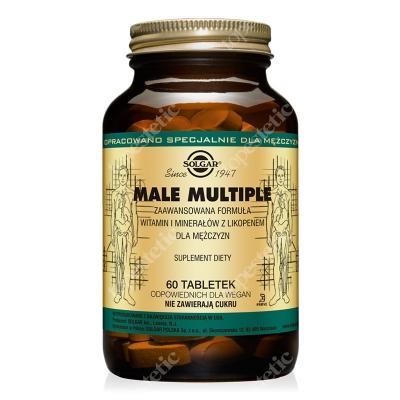 Solgar Male Multiple Wysoce skuteczna formuła witamin i minerałów z Likopenem dla mężczyzn 60 tabletek