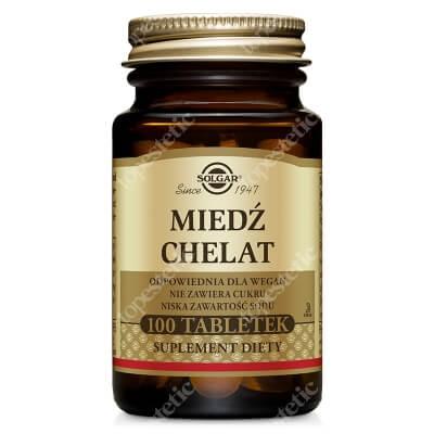 Solgar Miedź Chelat Aminokwasowy Zapewniający najlepszą wchłanialność 100 tabletek
