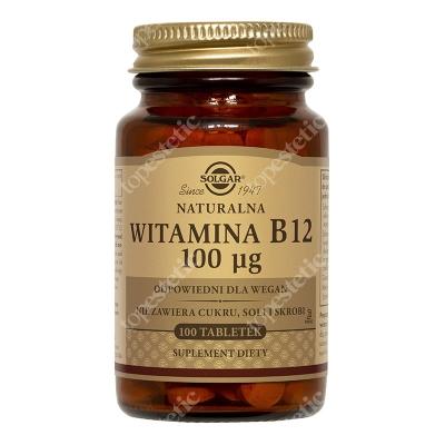 Solgar Naturalna Witamina B12 100 μg 100 tabletek