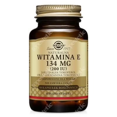 Solgar Naturalna Witamina E 134 mg Jako D-alfa tokoferol 50 kapsułek