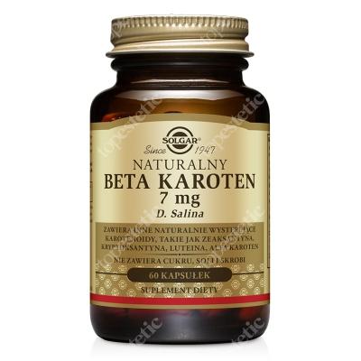 Solgar Naturalny Beta Karoten 7 mg Z alg D. salina 60 kapsułek