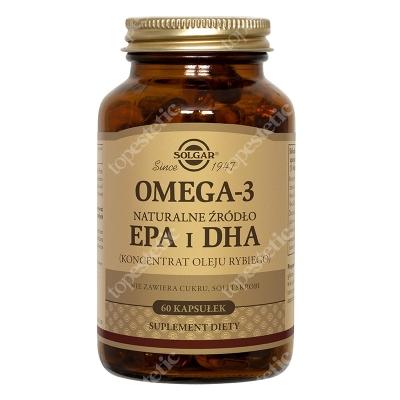 Solgar Omega 3 Naturalne źródło EPA i DHA. Koncentrat Oleju Rybiego 60 kapsułek