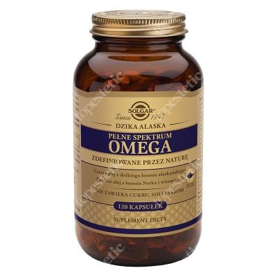 Solgar Pełne Spektrum Omega Czysty olej z dzikiego łososia alaskańskiego 120 kapsułek