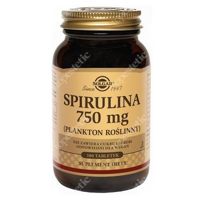 Solgar Spirulina 750mg Plankton roślinny 100 tabletek