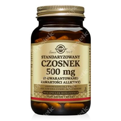 Solgar Standaryzowany Czosnek 500 mg Gwarantowany potencjał alicyny 90 kapsułek