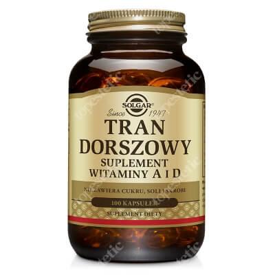 Solgar Tran Dorszowy Suplement witaminy A i D 100 kapsułek