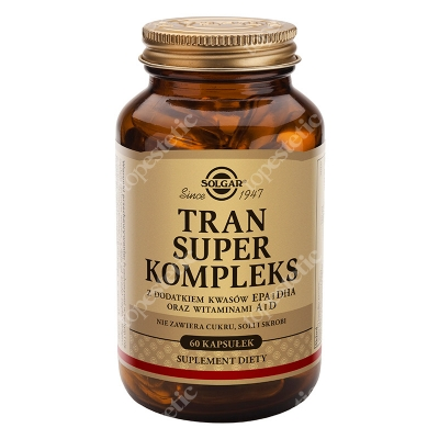 Solgar Tran Super Kompleks Z dodatkiem kwasów EPA i DHA 60 kapsułek