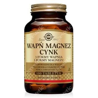 Solgar Wapń, Magnez, Cynk 100 tabletek