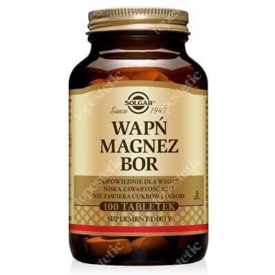 Solgar Wapń, Magnez plus Bor 100 tabletek