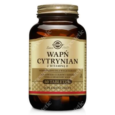 Solgar Wapń z witaminą D W postaci cytrynianu zapewniającego lepszą wchłanialność 60 tabletek