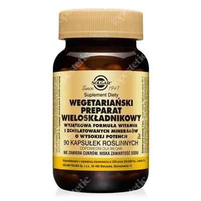 Solgar Wegetariański Kompleks Wieloskładnikowy Wyjątkowa formuła witamin i minerałów 90 kapsułek