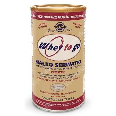 Solgar Whey To Go Białko serwatki, naturalny smak czekoladowo-kakaowy 454 g