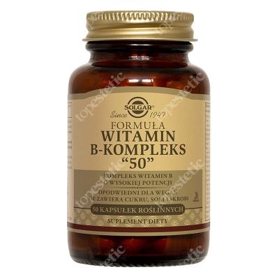 """Solgar Witamina B-kompleks """"50"""" Kompleks witamin B o wysokiej potencji 50 kapsułek"""