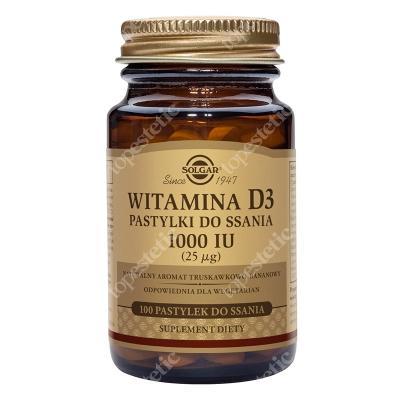 Solgar Witamina D3, 1000 IU (25 µg) Pastylki do ssania 100 pastylek