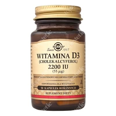 Solgar Witamina D3 2200 IU (55ug) Cholekalcyferol 50 kaps.