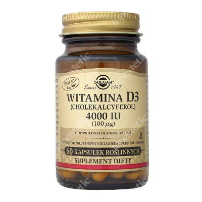 Solgar Witamina D3 4000 IU (100ug) Cholekalcyferol 60 kaps.