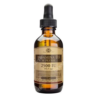 Solgar Witamina D3 2500 IU (62,5 µg) w płynie 59 ml