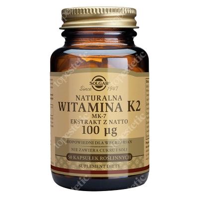 Solgar Witamina K2 100 µg MK7 ekstrakt z natto 50 kapsułek