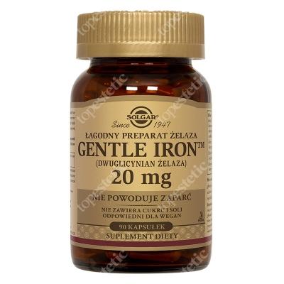 Solgar Żelazo Gentle Iron - łagodny preparat żelaza 20 mg dwuglicynian żelaza 90 kapsułek