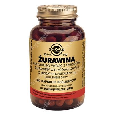 Solgar Żurawina Naturalny wyciąg z żurawiny wielkoowocowej z dodatkiem witaminy C 60 kapsułek