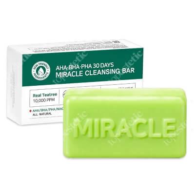 Some By Mi 30 Days Miracle Cleansing Bar Mydło z naturalnymi kwasami AHA i BHA przeznaczone do kuracji oczyszczającej skóry trądzikowej 95 g