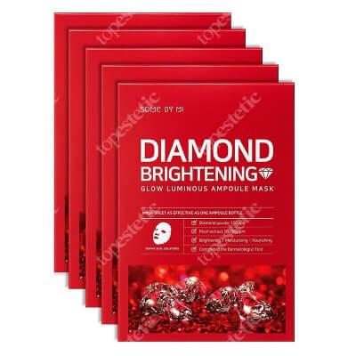 Some By Mi Diamond Brightening Mask Diamentowa rozjaśniająca maska do twarzy 5 szt.
