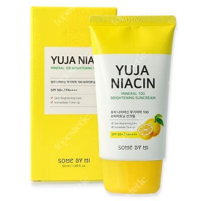 Some By Mi Yuja Niacin Mineral 100 Suncream SPF 50+++ Rozświetlający krem przeciwsłoneczny z filtrem 50 ml