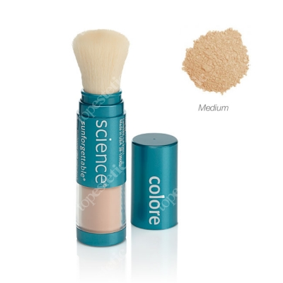 Colorescience Sunforgetable Brush-On Sunscreen Mineralny puder ochronny SPF 50 w pędzlu - kolor Medium 6 g
