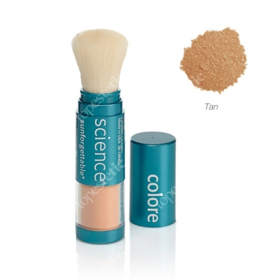 Colorescience Sunforgettable Brush-On Sunscreen Mineralny puder ochronny SPF 50 w pędzlu - kolor Tan 6 g