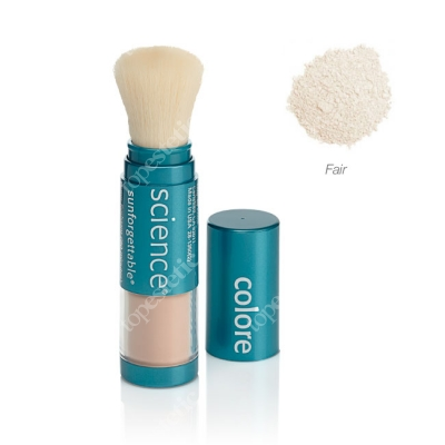 Colorescience Sunforgetable Brush-On Sunscreen Mineralny puder ochronny SPF 50 w pędzlu - kolor Fair 6 g