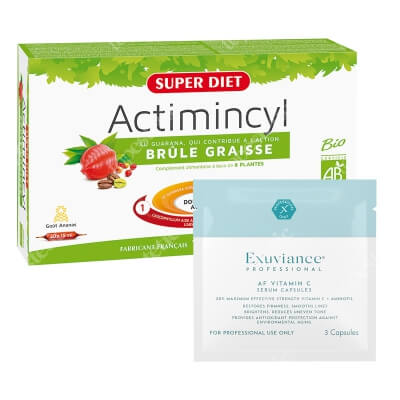 Super Diet Actimicyl Fat Burner + Exuviance Professional AF VITAMIN C Serum Capsules ZESTAW Super Diet spalanie tłuszczu 20x15ml + Exuviance kapsułki 3 szt
