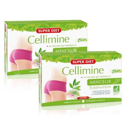 Super Diet Cellimine Slimming Set ZESTAW Wyszczuplanie 2x 20 x 15 ml