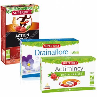 Super Diet Detox + Fat Burner + Action ZESTAW Detoksykacja 20 x 15 ml + Spalanie tłuszczu 20 x 15ml + Witalność 20 x 15 ml