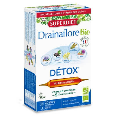 Super Diet Drainaflore Bio Detox Detoksykacja 20x15 ml