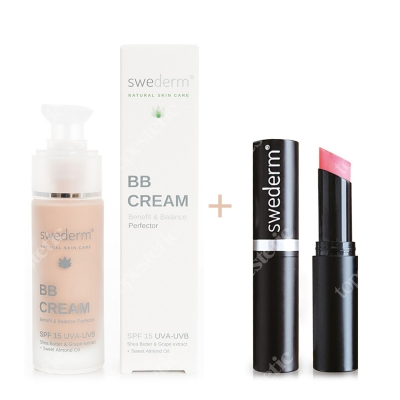 Swederm BB Cream Benefit Balance Perfector SPF 15 UVA-UVB + Chameleon Lip Balm ZESTAW Krem BB do twarzy SPF15 30 ml + Balsam do ust 3,5 ml