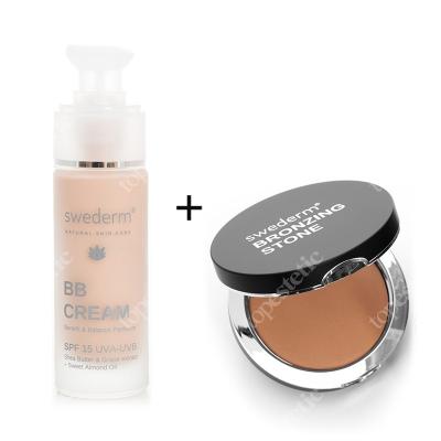 Swederm Bronzing Stone + BB Cream Benefit Balance Perfector SPF 15 UVA-UVB ZESTAW Kamień brązujący 13 g + Krem BB do twarzy SPF15 30 ml