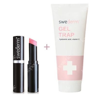 Swederm Chameleon Lip Balm + Gel Trap ZESTAW Balsam do ust 3,5 ml + Intensywnie nawilżający żel do ciała z kwasem hialuronowym i witaminą E 250 ml