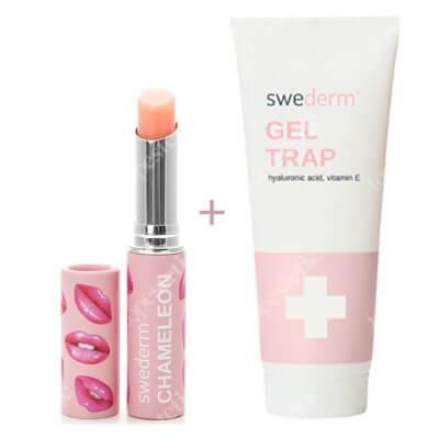 Swederm Chameleon Lip Balm + Gel Trap ZESTAW Balsam do ust 3 ml + Intensywnie nawilżający żel do ciała z kwasem hialuronowym i witaminą E 250 ml