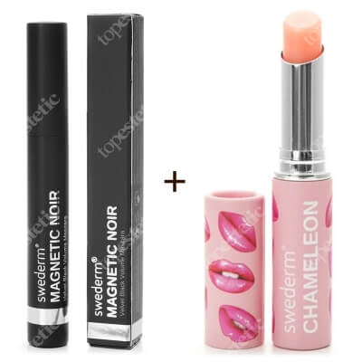 Swederm Chameleon Lip Balm + Magnetic Noir Mascara ZESTAW Balsam do ust 3 ml + Maskara 9,5 ml