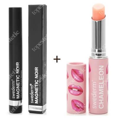Swederm Chameleon Lip Balm + Magnetic Noir Mascara ZESTAW Balsam do ust 3 ml + Maskara 9,5 ml