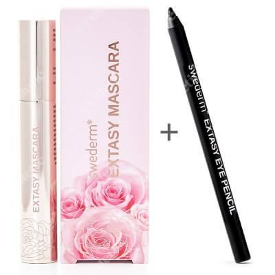 Swederm Extasy Mascara + Extasy Eye Pencil ZESTAW Tusz do rzęs 8.5 ml + Ultraczarna kredka do oczu 1 szt