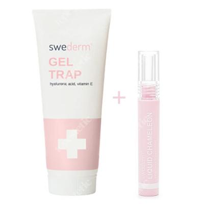Swederm Gel Trap + Liquid Chamelon Lip Oil ZESTAW Nawilżający żel do ciała z kwasem hialuronowym i witaminą E 250 ml + Ochronny olejek do ust 3 ml