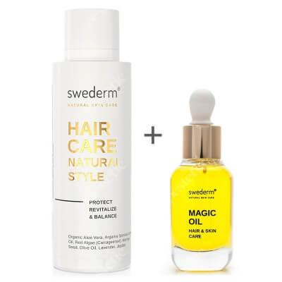 Swederm Hair Care + Magic Oil ZESTAW Odżywka do włosów bez spłukiwania 100 ml + Organiczny olejek do włosów i skóry 30 ml