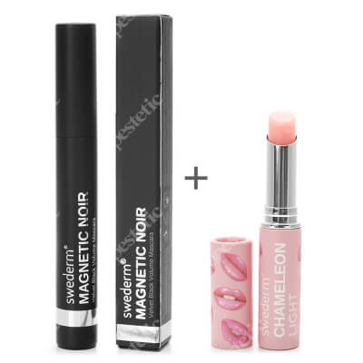 Swederm Magnetic Noir Mascara + Chameleon Light Lip Balm ZESTAW Maskara 9,5 ml + Balsam do ust 3 ml