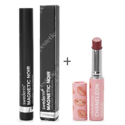 Swederm Magnetic Noir Mascara + Chameleon Nude Lip Balm ZESTAW Maskara 9,5 ml + Balsam do ust 3 ml