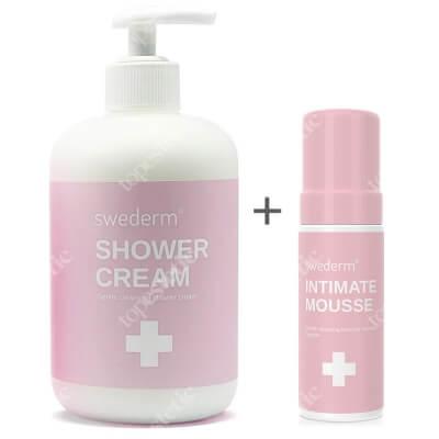 Swederm Shower Cream + Intimate Mousse ZESTAW Krem myjący pod prysznic 500 ml + Pianka do higieny intymnej 150 ml