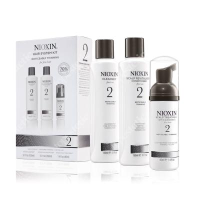 Nioxin System 2 ZESTAW pielęgnacyjny przeciw wypadaniu (włosy cienkie, znacznie przerzedzone) 150 ml, 150 ml, 40 ml