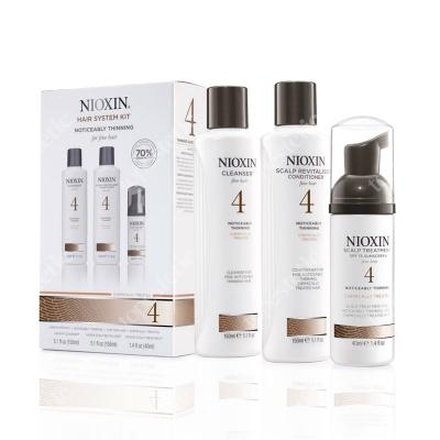 Nioxin System 4 ZESTAW pielęgnacyjny przeciw wypadaniu (włosy cienkie, znacznie przerzedzone, zniszczone) 150, 150, 40 ml