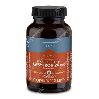 Terranova Easy Iron 20 mg Łagodne żelazo 50 kaps. wegańskich